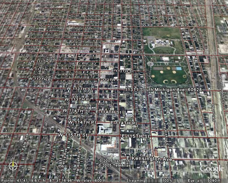 Roseland Satellite Image